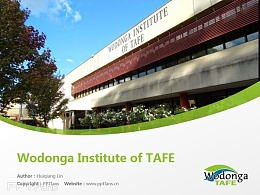 Wodonga Institute of TAFE powerpoint template download | 沃東加技術與繼續教育學院PPT模板下載