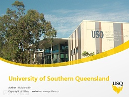 University of Southern Queensland powerpoint template download | 南昆士蘭大學PPT模板下載