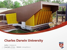 Charles Darwin University powerpoint template download | 查爾斯達爾文大學PPT模板下載