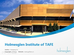Holmesglen Institute of TAFE powerpoint template download | 霍姆斯格蘭技術與繼續教育學院PPT模板下載