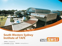 South Western Sydney Institute of TAFE powerpoint template download | 西南悉尼技術與繼續教育學院PPT模板下載