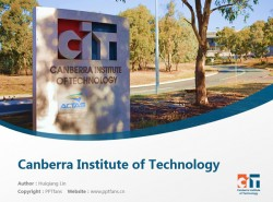 Canberra Institute of Technology powerpoint template download | 堪培拉理工学院PPT模板下载