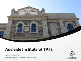 Adelaide Institute of TAFE powerpoint template download | 南澳技術與繼續教育學院阿德萊德分校PPT模板下載
