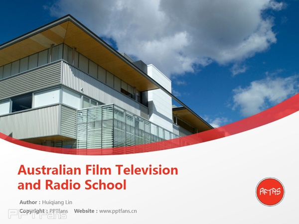 Australian Film Television and Radio School powerpoint template download | 澳洲广播电视电影学校PPT模板下载_slide0