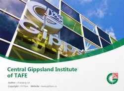 Central Gippsland Institute of TAFE powerpoint template download | 中吉普斯兰理工学院PPT模板下载