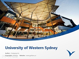 University of Western Sydney powerpoint template download | 西悉尼大學PPT模板下載