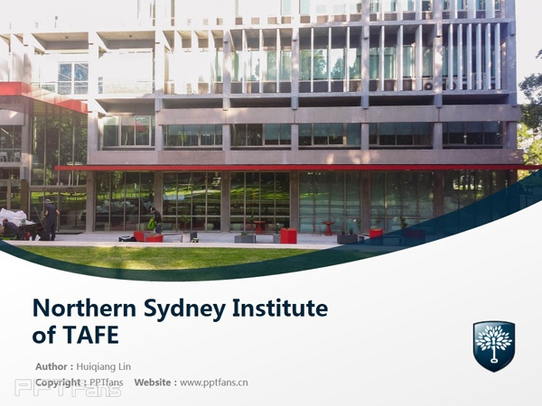 Northern Sydney Institute of TAFE powerpoint template download | 北悉尼技术与继续教育学院PPT模板下载_幻灯片预览图1