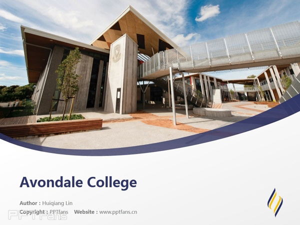 Avondale College powerpoint template download | 阿文代尔高等教育学院PPT模板下载_slide1