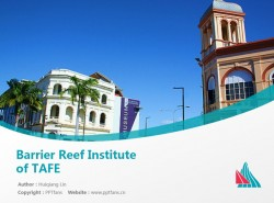 Barrier Reef Institute of TAFE powerpoint template download | 昆士兰北部技术与继续教育PPT模板下载