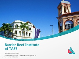 Barrier Reef Institute of TAFE powerpoint template download | 昆士蘭北部技術與繼續教育PPT模板下載