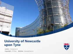 University of Newcastle upon Tyne powerpoint template download | 纽卡斯尔大学PPT模板下载