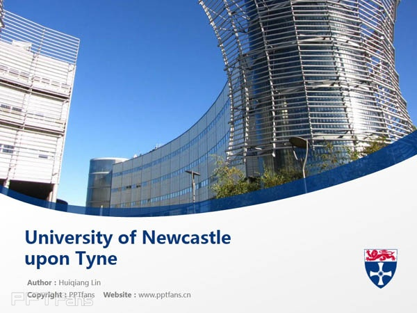 University of Newcastle upon Tyne powerpoint template download | 纽卡斯尔大学PPT模板下载_slide1