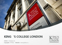 King's College London powerpoint template download | 伦敦国王学院PPT模板下载