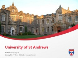 University of St Andrews powerpoint template download | 圣安德鲁斯大学PPT模板下载