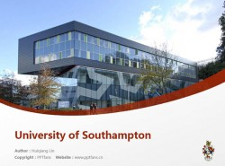 University of Southampton powerpoint template download | 南安普顿大学PPT模板下载