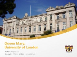 Queen Mary, University of London powerpoint template download | 伦敦玛丽女王大学PPT模板下载