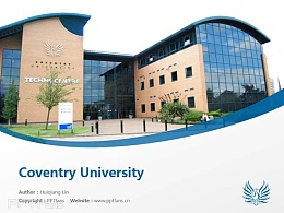 Coventry University powerpoint template download | 考文垂大學PPT模板下載