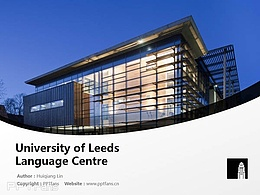 University of Leeds Language Centre powerpoint template download | 利兹大学语言中心PPT模板下载