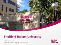 Sheffield Hallam University powerpoint template download | 谢菲尔德哈勒姆大学PPT模板下载