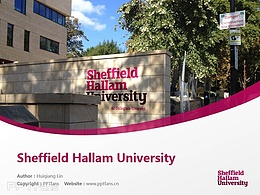 Sheffield Hallam University powerpoint template download | 謝菲爾德哈勒姆大學PPT模板下載