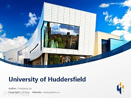 University of Huddersfield powerpoint template download | 哈德斯菲尔德大学PPT模板下载