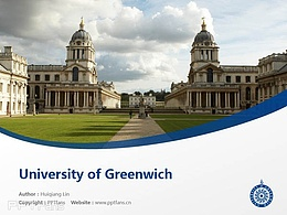 University of Greenwich powerpoint template download | 格林威治大学PPT模板下载