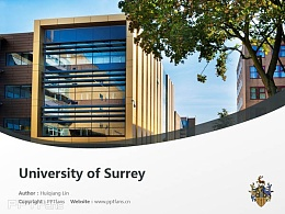 University of Surrey powerpoint template download | 薩里大學PPT模板下載