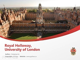 Royal Holloway, University of London powerpoint template download | 伦敦大学皇家霍洛威学院PPT模板下载