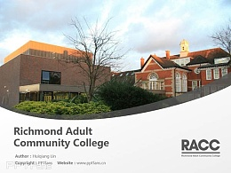Richmond Adult Community College powerpoint template download | 里士满成人社区学院PPT模板下载
