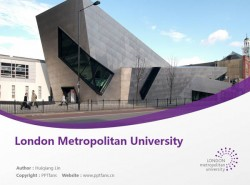 London Metropolitan University powerpoint template download | 伦敦都市大学PPT模板下载