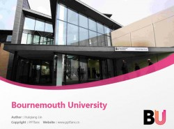 Bournemouth University powerpoint template download | 伯恩茅斯大学PPT模板下载
