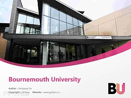 Bournemouth University powerpoint template download | 伯恩茅斯大學PPT模板下載