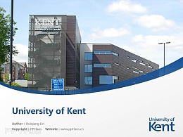 University of Kent powerpoint template download | 肯特大学PPT模板下载