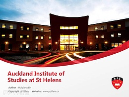 Auckland Institute of Studies at St Helens powerpoint template download | 奥克兰商学院PPT模板下载