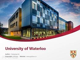 University of Waterloo powerpoint template download | 滑铁卢大学PPT模板下载