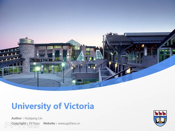 University of Victoria powerpoint template download | 维多利亚大学PPT模板下载_slide0