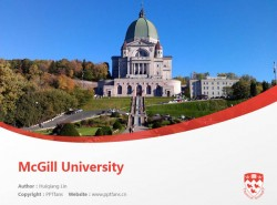 McGill University powerpoint template download | 麦吉尔大学PPT模板下载