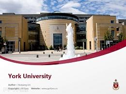 York University powerpoint template download | 约克大学PPT模板下载