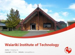 Waiariki Institute of Technology powerpoint template download | 怀阿里奇理工学院PPT模板下载