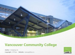 Vancouver Community College powerpoint template download | 温哥华社区学院PPT模板下载