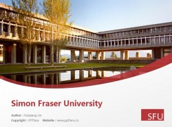 Simon Fraser University powerpoint template download | 西蒙弗雷泽大学PPT模板下载
