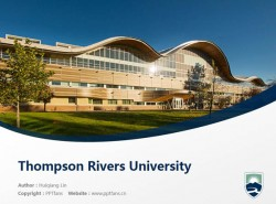 Thompson Rivers University powerpoint template download | 汤姆森河大学PPT模板下载