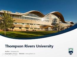 Thompson Rivers University powerpoint template download | 汤姆森河大学PPT模板下载