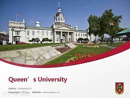 Queen's University powerpoint template download | 女王大学PPT模板下载
