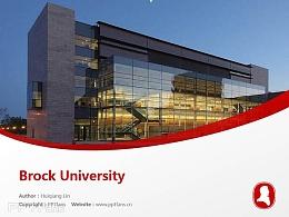 Brock University powerpoint template download | 布鲁克大学PPT模板下载
