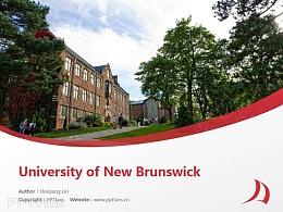 University of New Brunswick powerpoint template download | 新布伦瑞克大学PPT模板下载