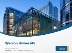Ryerson University powerpoint template download | 瑞尔森大学PPT模板下载