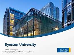 Ryerson University powerpoint template download | 瑞尔森大学PPT模板下载
