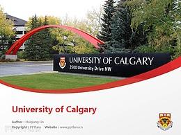 University of Calgary powerpoint template download | 卡尔加里大学PPT模板下载