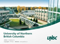 University of Northern British Columbia powerpoint template download | 北英属哥伦比亚大学PPT模板下载
